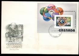 Grenada 1976 Telephone Centenary, Alexander Graham Bell MS XLFDC - Grenade (1974-...)