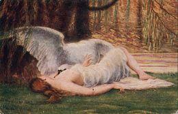 THOMAS: Léda [ Nu Femme Nude Cygne Swan CPA Hongroise ] FM028 - Paintings