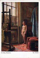 SOHN: Dans L'atelier [ Nu Femme Nude Modèle Chevalet CPSM Allemande ] FM029 - Paintings