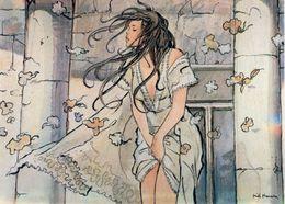 MANARA: Le Déclic [ Nu Femme Nude CPM Italienne ] FM038 - Paintings