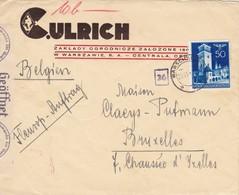 GG: Brief Von Warschau Nach Brüssel, Zensur - Occupation 1938-45