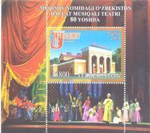 2020. Uzbekistan, 80y Of Mukimi State Musical Theatre, S/s, Mint/** - Ouzbékistan