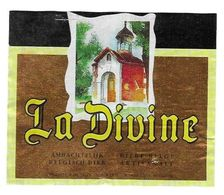 BIERE ETIQUETTE LA DIVINE ( UNE CHAPELLE ) BRASSERIE DE SILLY BELGIQUE, ETIQUETTE PEU COMMUNE VOIR DETAIL, - Beer