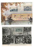 2 CARTES MAXIMUM CARD JEU DE PAUME 1939 + VERSAILLES 1938 /FREE SHIPPING REGISTERED - 1930-39