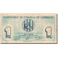 Billet, Espagne, LLOBREGA, 1 Peseta, Monument, 1937, 1937, TTB - Spanien