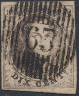 "Médaillon - N°10A Bien Margé Obl D63 ""Willebroeck"" (Luxe) / Fin Pli Au Verso - 1858-1862 Medaillen (9/12)"