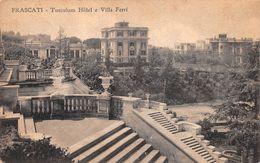 "010695 ""FRASCATI - TUSCULUM HOTEL E VILLA FERMI""  TIMBRO NR 4 POSTINO.  CART SPED 1928 - Hotels & Restaurants"
