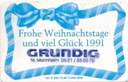 K 200 90 Weihnachtskarte - Zudruck Grundig   - Aufl - - Deutschland