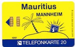 K 268 91 Mauritius Mannheim - Aufl 3 000 - - Deutschland