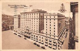 "010697 ""CANADA - MONTREAL - MOUNT ROYAL HOTEL"" ANIMATA, AUTO.  CART SPED 1933 - Hotels & Restaurants"