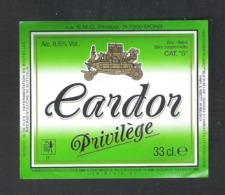 BRASSERIE  S.M.G. PRODUCT - MONS - CARDOR PRIVILEGE - 33 CL  - 1  BIERETIKET  (BE 678) - Beer