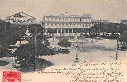 """010700 """"CUBA - HABANA - THE CENTRAL PARK - INGLATERRA HOTEL - TACON TEATRE"""" ANIMATA, TIMBRO (IC).  CART  SPED 1912 - Hotels & Restaurants"""