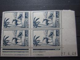 VEND BEAUX TIMBRES DU MAROC N° 232 EN BLOC DE 4 + BDF + CD , XX !!! - Marokko (1891-1956)