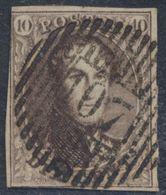 """Médaillon - N°10 Obl D107 """"West - Capelle"""". Superbe Frappe ! Au Filet 2 Fois, Petite Déchirure Coin Inférieur Gauche (ve - 1858-1862 Médaillons (9/12)"""