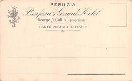 "010705 ""PERUGIA - BRUFANIS GRAND HOTEL - GEORGE J. COLLINS - PROPRIETAIRE""  STEMMA. CART  NON SPED - Hotels & Restaurants"