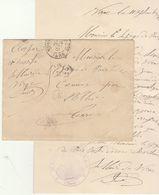 """Tarn EAC 1901 En Franchise Cad Monastier S/Cerou, """"OR"""" = Virac, Cachet De La Mairie. - 1877-1920: Période Semi Moderne"""
