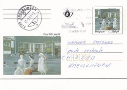 Belgium Belgie 1998 Stationery Card P500: Art Paintings; Paul Delvaux; Antoon Van Dyck Slogan - Goose Cancellation - Stamped Stationery