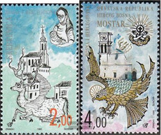 Bosnia - Croatian. Post Mostar 24-25 (complete Issue) Unmounted Mint / Never Hinged 1995 Old Cities - Bosnia And Herzegovina