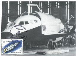 (B 6) EUROPA - Belgium Maxicard - 1991 - Hermes Spaceship - Maximum Cards