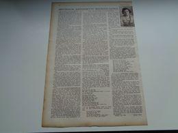 """Origineel Knipsel ( 2584 ) Uit Tijdschrift """" Zondagsvriend """"  1936 :   Mevrouw Antoinette Buckinx - Luykx   Lommel - Vieux Papiers"""