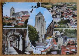 Celles-sur-Belle - Eglise Abbatiale Cloitre ... CPSM Format CPM Colorisée - Multivue - Multivues - Multi Vues - (17950) - Celles-sur-Belle