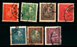 19165B) ISLANDA 1902-04 CRISTIANO IX N. 34B+36+37+38+40+41+42  USATI - Usados