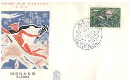 (B 6) EUROPA - Monaco FDC Cover 162 - Hermes + Farming (2 Covers) - FDC