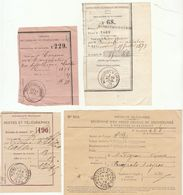 4 Documents Cad Divers Le Monasties-s-Cérou Tarn - Postmark Collection (Covers)