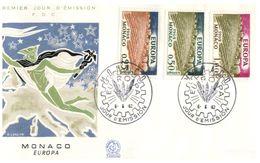 (B 6) EUROPA - Monaco FDC Cover 1962 - Hermes & Farming (1 Covers) - FDC
