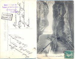 INCONNU A L'APPEL DES FACTEURS DE LEVALLOIS-PERRET. LE FACTEUR-CHEF, LAGARDE + ADRESSE INCOMPLETE – CP ANNECY - Postmark Collection (Covers)