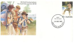 (B 6) Australia  - Scouts 1987 - 1979 - 1982 (3 Pre-paid Covers) - FDC