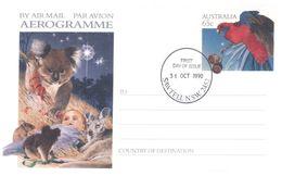(B 6) Australia  - Christmas (1 Cover + 1 Aerogramme) - FDC