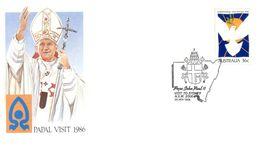 (B 6) Australia  - Pope John Paul I Visit (9 Covers) - FDC