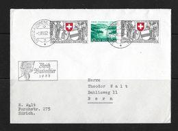 1952 PRO PATRIA  → Brief Zürich Bundesfeier 1952 Nach Bern     ►SBK-2xB56 / B57◄ - Pro Patria