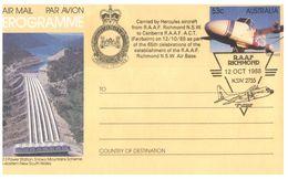 (B 6) Australia  - RAAF Richmond 1988 (4 Pre-paid Covers) - FDC