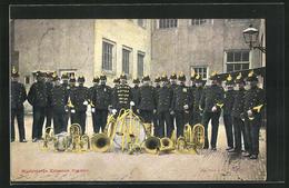 AK Onze Land- En Zeemacht, Muziekkorps Koloniale Reserve, Niederländische Soldaten Mit Blasinstrumenten - Militaria