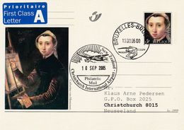 Belgium Belgie 2005 Priority Postal Stationery Card:  Art Paintings; Catharina Van Hemessen: Autoportret - Stamped Stationery