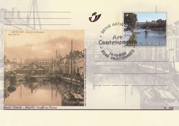 Belgium Belgie 2000 Stationery Card: Art Paintings Bruxelles Vismarkts Marche Aux Poissons Boats Ships Port Architecture - Stamped Stationery
