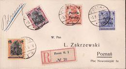 POLAND 1919 Poznan Fi 67-70 Cover - ....-1919 Provisional Government