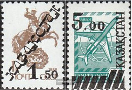 Kazakhstan 15-16 (complete Issue) Unmounted Mint / Never Hinged 1992 Clear Brands - Kazakhstan
