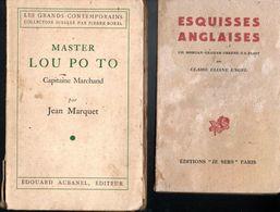 Lot 4 Livres Editions Divers  - Esquisses Anglaises - Master Lou Po To -  Médée - Ma Chère France  -  De 1930 à 1949 - Libri, Riviste, Fumetti