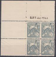N° 263 En Bloc De 4 Coin Daté 08/1944 - X X - ( C 1582 ) - Tunisie (1888-1955)