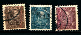 19167) ISLANDA 1902-04 CRISTIANO IX N. 37+40+42  USATI - Usados