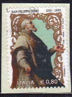 ITALIA REPUBBLICA ITALY REPUBLIC 2015 SAN FILIPPO NERI PINACOTECA AMBROSIANA MILANO USATO USED OBLITERE' - 2001-10: Oblitérés
