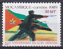 Mosambik Mosambique 1989 Geschichte History Revolution Kolonialismus Soldaten Soldiers Fahnen Flags, Mi. 1387 ** - Mozambique