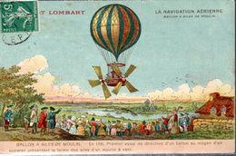 CA FRANCE (PAS DE DATE) - CHOCOLAT LOMBART - BALLON A AILES DE MOULIN (1785) - - Publicité