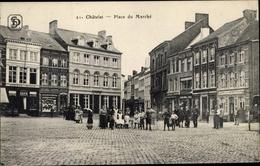 Cp Chatelineau Châtelet Wallonien Hennegau, Place Du Marche - Belgique