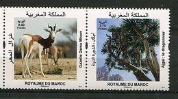 N° 1751 /752 Maroc ** Année 2017 - Faune Et Flore : Gazelle, Dragonnier - - Maroc (1956-...)