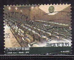 ITALIA REPUBBLICA ITALY REPUBLIC 2015 LE ECCELLENZE DEL SAPERE POLITECNICO DI BARI 0,95 USATO USED OBLITERE - 6. 1946-.. Repubblica