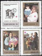 Makedonien Z18-Z21 Block Of Four (complete Issue) Zwangszuschlagsmarken Unmounted Mint / Never Hinged 1992 Red Cross - Macedonia